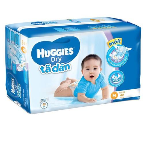 Tã dán Huggies Dry Jumbo M 42 dành cho bé 5kg đến 10kg