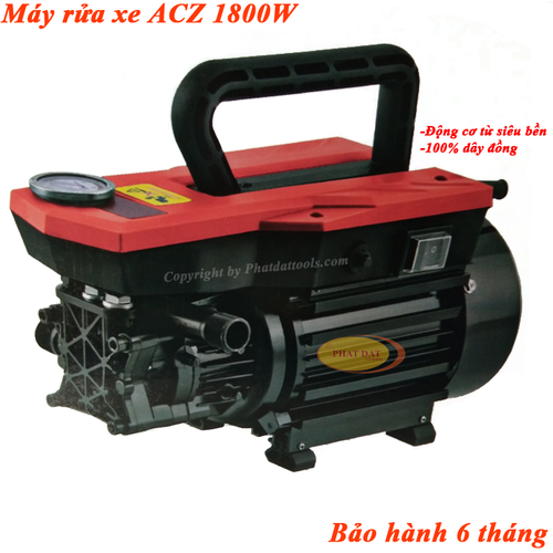 Máy Xịt Rửa Xe Cao Áp ACZ RS1 1800W-Chính Hãng BH 6 tháng