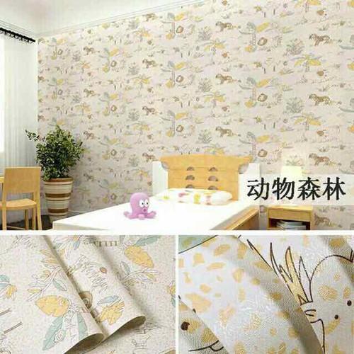 10m giấy dán tường họa tiết vườn bách thú- khổ 45cm- sẵn keo