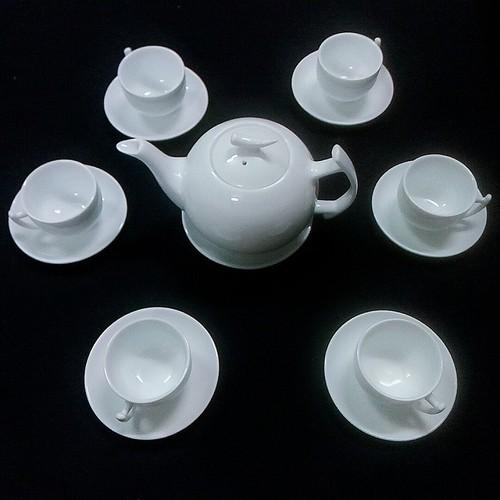Bộ ấm chén có địa lót dáng bưởi cành sứ trắng trong Bát Tràng - 7045478 , 13790566 , 15_13790566 , 205000 , Bo-am-chen-co-dia-lot-dang-buoi-canh-su-trang-trong-Bat-Trang-15_13790566 , sendo.vn , Bộ ấm chén có địa lót dáng bưởi cành sứ trắng trong Bát Tràng
