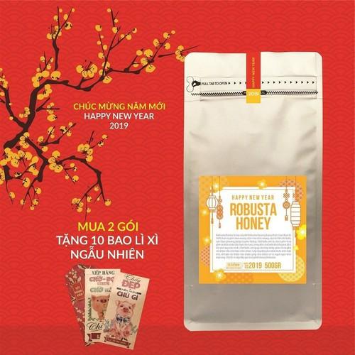 Cà phê Tết - Cà phê Robusta Honey 500g - The Kaffeine