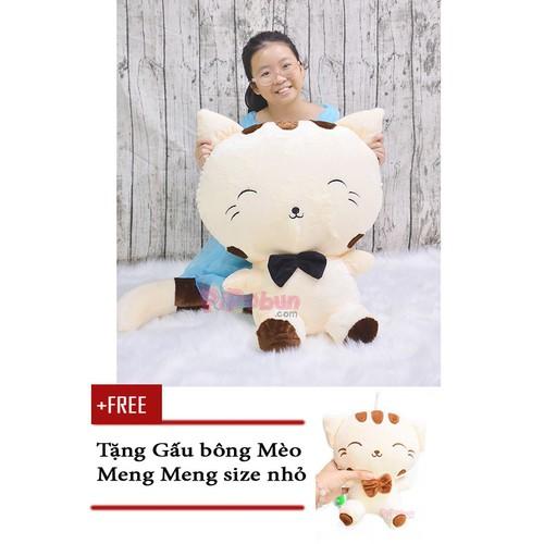 Gấu bông Mèo Meng Meng vải lông mịn size XL 85cm Pipobun - Tặng Mèo Meng Meng nhỏ 25cm - 7032250 , 13778640 , 15_13778640 , 399000 , Gau-bong-Meo-Meng-Meng-vai-long-min-size-XL-85cm-Pipobun-Tang-Meo-Meng-Meng-nho-25cm-15_13778640 , sendo.vn , Gấu bông Mèo Meng Meng vải lông mịn size XL 85cm Pipobun - Tặng Mèo Meng Meng nhỏ 25cm
