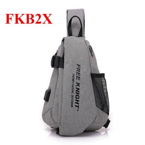 Túi Đeo Chéo Nam FreeKnight Trendy Casual Outdoor FKB2X - Màu Xám New