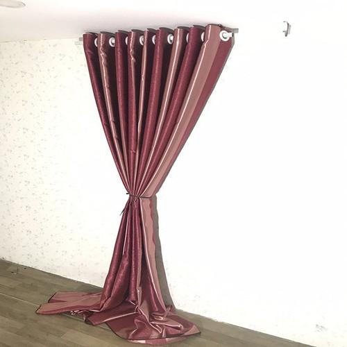 Rèm cửa sổ PH curtains 200cm-cao 127cm đỏ sọc