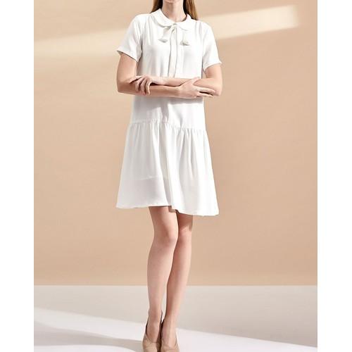 Đầm nữ The Cosmo BONNIE DRESS IVORY màu trắng TC2005198WH