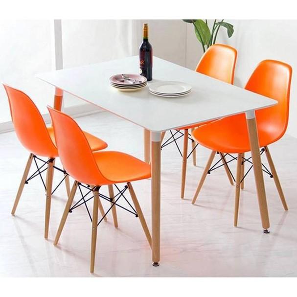 Ghế ăn, ghế cafe Eames chân gỗ - Nội thất XCom 6