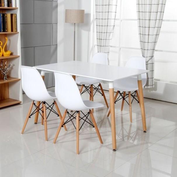 Ghế ăn, ghế cafe Eames chân gỗ - Nội thất XCom 5