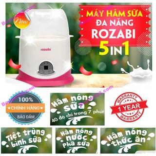 Máy hâm sữa 2 bình - Tiệt trùng điện tử cảm ứng 5 chức năng ROZABI -Tốt và rẻ so với Fatzbaby FB3003SL - FB3002SL - FB3012SL, Avent, Babymoov, Kenjo, Kuku, Beurer, Rozabi, Chicco, Farlin, Medela, Dr Brown, Nuk, Gluck - ROZABI5-1 thumbnail