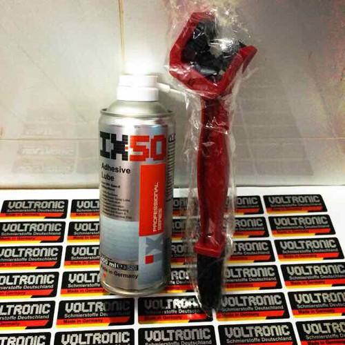 Combo Dưỡng Sên Voltronic IX50 Adhesive Lube và Bàn Chải 3D