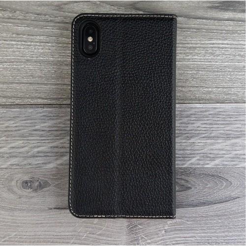 Bao da Ionecase Iphone X-Xs Da Bò Màu Đen