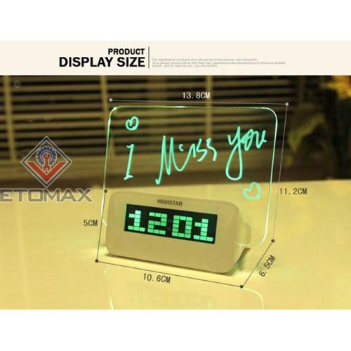 Đồng hồ báo thức HIGHSTAR bảng ghi nhớ phát sáng