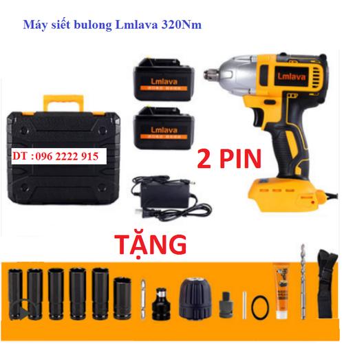 Máy siết bulong LMlava 320Nm 02 pin