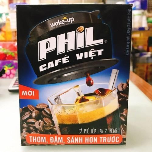 Cà phê hòa tan Wake-Up Phil Cafe Việt hộp 240g - 4493481 , 13786004 , 15_13786004 , 45000 , Ca-phe-hoa-tan-Wake-Up-Phil-Cafe-Viet-hop-240g-15_13786004 , sendo.vn , Cà phê hòa tan Wake-Up Phil Cafe Việt hộp 240g