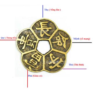 Tiền xu Mai Hoa kim tiền, tiền xu bỏ ví - DXMH thumbnail