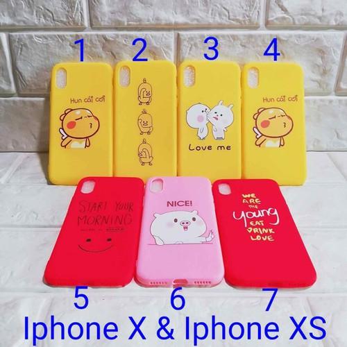 Ốp lưng IPhone X hoặc iPhone XS full dẻo full màu