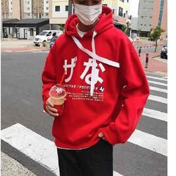 Áo hoodie nam nữ in chữ Hàn
