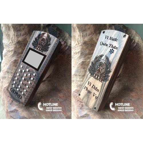 Vỏ gỗ điện thoại 1280, 1202 - QĐND