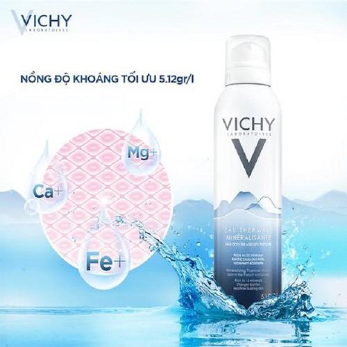 Nước xịt khoáng dưỡng da Vichy Mineralizing Thermal Water 300ml