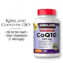 Viên uống hỗ trợ tim mạch CoQ10 300mg của Kirkland 100viên Mỹ