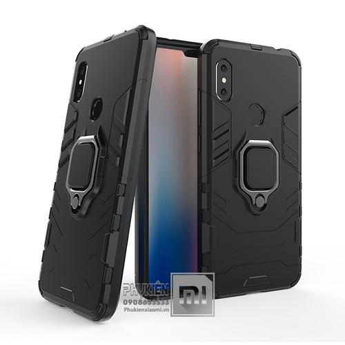 Ốp lưng Xiaomi Redmi Note 6 Pro - Note 6 iRON - MAN IRING Nhựa PC cứng viền dẻo chống sốc - màu đen