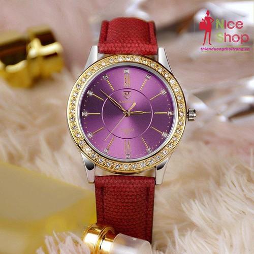 Đồng hồ dây da Yazole nữ màu sắc độc đáo - DHK105D