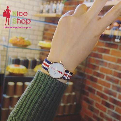 Đồng hồ dây vải nữ Barsh năng động - DHK103D
