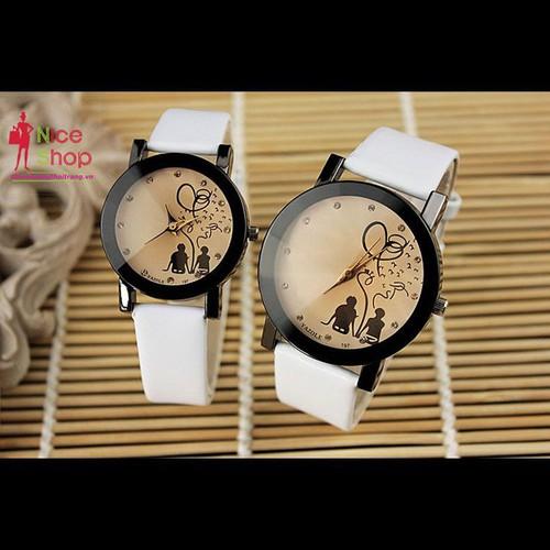 (Giá 1 chiếc) Đồng hồ dây da đôi Yazole 2019 - DHK076D