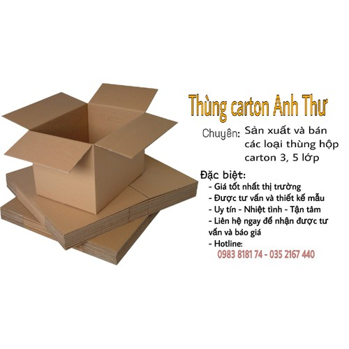 Combo 20 thùng carton 22x20x10 99k