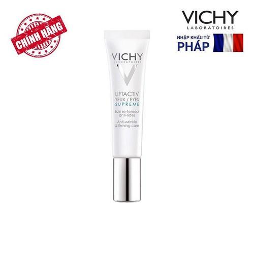 Kem Dưỡng Chống Nếp Nhăn Và Nâng Mí Mắt - Liftactiv Yeux, Eyes Supreme Vichy 15ml