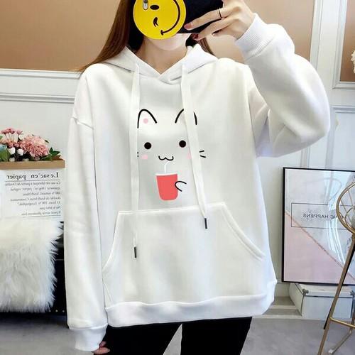Áo hoodie nữ dễ thương