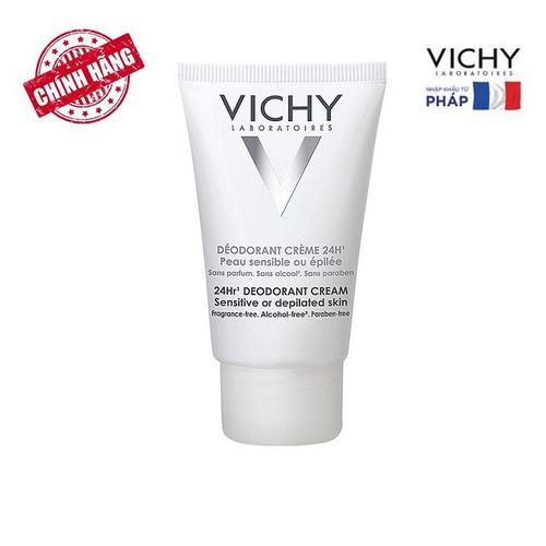 Kem Khử Mùi Và Giúp Dưỡng Da Mềm Mịn Cho Da Nhạy Cảm Vichy 24hr 40ml