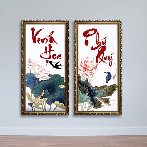 Tranh thư pháp chữ Vinh Hoa Phú Quý – W1448