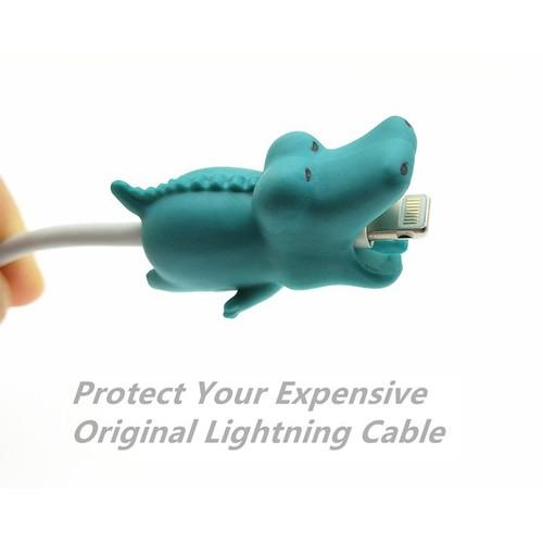 Nút Gắn Bảo Vệ Dây Cáp Sạc Iphone Cable Bite – Nút Gắn Bảo Vệ Dây Cáp Sạc Hình Động Vật Hoạt Hình Ngộ Nghĩnh Dễ Thương - Cá Sấu