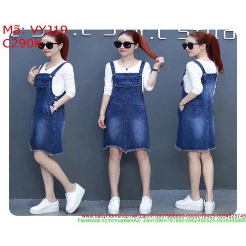 Váy yếm jean nữ công sở kiểu rách lai gợn sóng và giả túi VYJ19 - 4494860 , 13807796 , 15_13807796 , 290000 , Vay-yem-jean-nu-cong-so-kieu-rach-lai-gon-song-va-gia-tui-VYJ19-15_13807796 , sendo.vn , Váy yếm jean nữ công sở kiểu rách lai gợn sóng và giả túi VYJ19
