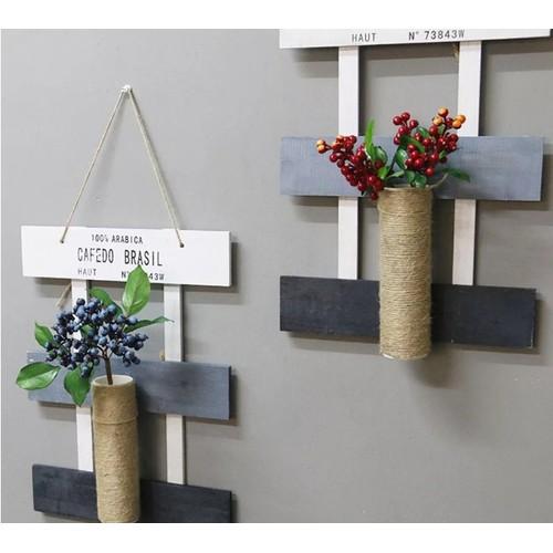 Giỏ hoa treo tường trang trí, giỏ hoa khung gỗ, giỏ hoa
