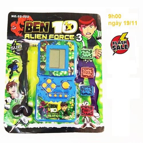 Đồ chơi điện tử xếp hình Ben + tai nghe, thẻ nhớ, máy chơi game điện tử xếp hình