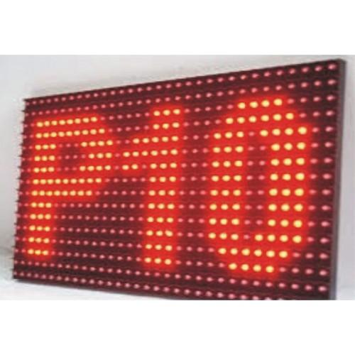Module Led p10  màu đỏ ngoài trời, phụ kiện: dây cáp, dây nguồn