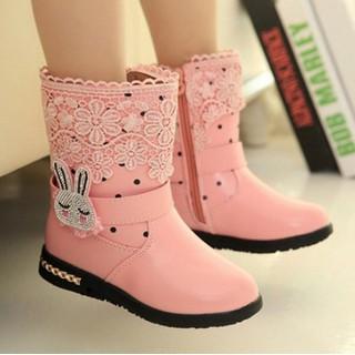 Giày boot ống bé gái cổ lửng thỏ con - SC004 thumbnail