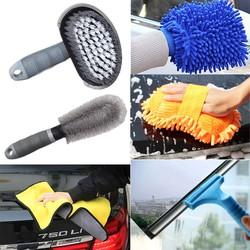 Bộ 6 Món Dụng Cụ Vệ Sinh Lau Rửa ô Tô Xe máy Đa Năng