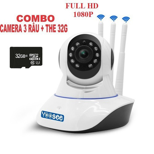 Camera wifi yoosee 3 râu full hd 1080p 2.0mp kèm thẻ 32gb - 19454558 , 22181989 , 15_22181989 , 900000 , Camera-wifi-yoosee-3-rau-full-hd-1080p-2.0mp-kem-the-32gb-15_22181989 , sendo.vn , Camera wifi yoosee 3 râu full hd 1080p 2.0mp kèm thẻ 32gb