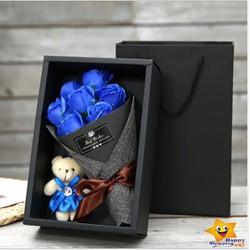 Hoa Sáp Bó Hộp Hàn Quốc [kèm gấu bông]