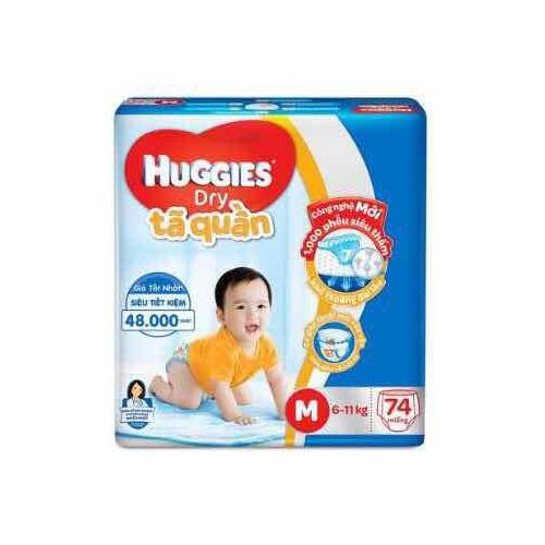 Tã quần huggies đệm mây m74 l68 xl62 xxl56