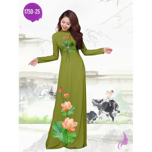 Vải áo dài in hoa sen - 19465992 , 22200420 , 15_22200420 , 270000 , Vai-ao-dai-in-hoa-sen-15_22200420 , sendo.vn , Vải áo dài in hoa sen