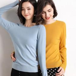 Áo len dệt kim dài tay nhiều màu AN67