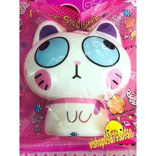 Squishy mèo trắng mắt xanh to thaolinh950