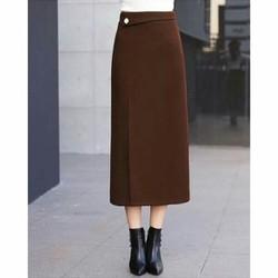 Chân váy xẻ tà form dài