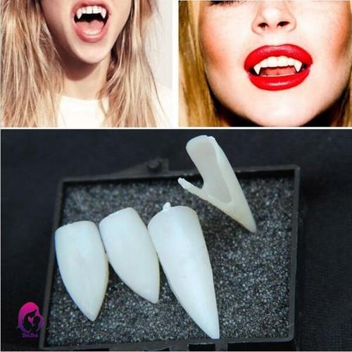 Bộ 4 răng nanh giả bằng nhựa theo phong cách ma cà rồng