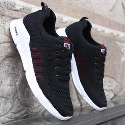 Giầy thể thao nam Giày sneaker vải nam HOT - 2 màu đen, ghi