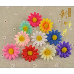 Túi 10 bông hoa cúc ,10 đầu hoa cúc chất liệu vải kích thước 4cm nguyên liệu làm đồ handmade