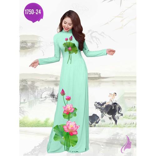 Vải áo dài in hoa sen - 19175724 , 22200120 , 15_22200120 , 270000 , Vai-ao-dai-in-hoa-sen-15_22200120 , sendo.vn , Vải áo dài in hoa sen